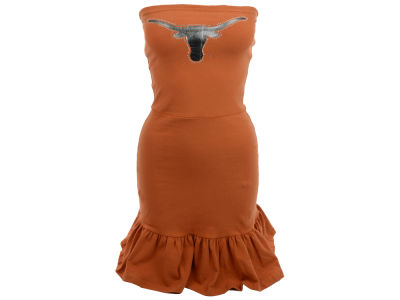 Texas Longhorns Nike NCAA Womens Strapless Ruffle Dress