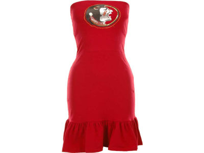 Florida State Seminoles Nike NCAA Womens Strapless Ruffle Dress