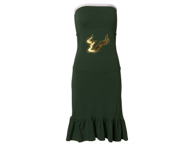 South Florida Bulls Nike NCAA Womens Strapless Ruffle Dress