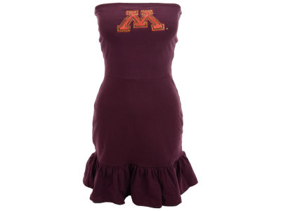 Minnesota Golden Gophers Nike NCAA Womens Strapless Ruffle Dress