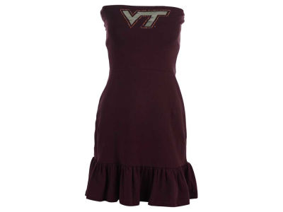 Virginia Tech Hokies Nike NCAA Womens Strapless Ruffle Dress