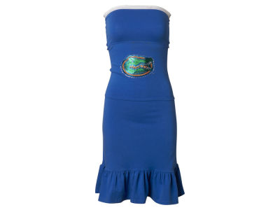 Florida Gators Nike NCAA Womens Strapless Ruffle Dress