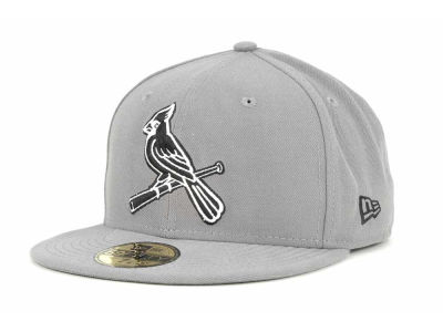 St. Louis Cardinals New Era MLB Gray BW 59FIFTY Cap