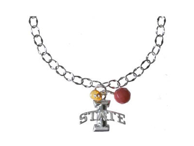 Iowa State Cyclones Silver Color Dangle Bracelet