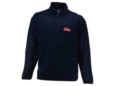Ole Miss Rebels NCAA Men's Frost Quarter Zip Fleece Pullover
