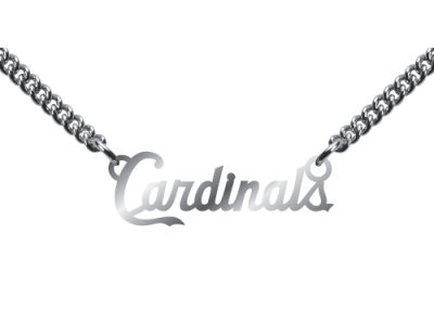 St. Louis Cardinals Team Script Necklace