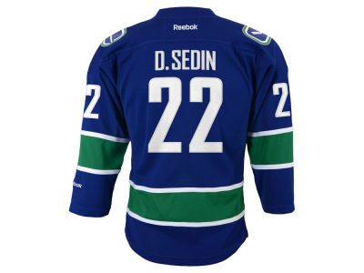 Vancouver Canucks Daniel Sedin Reebok NHL CN Youth Replica Player Jersey