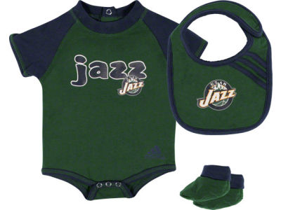Utah Jazz Newborn Bib & Bootie Set