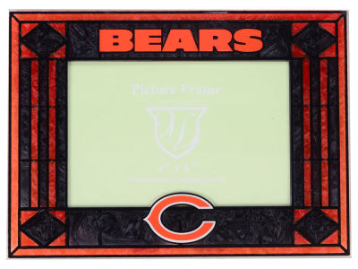 Chicago Bears Art Glass Picture Frame