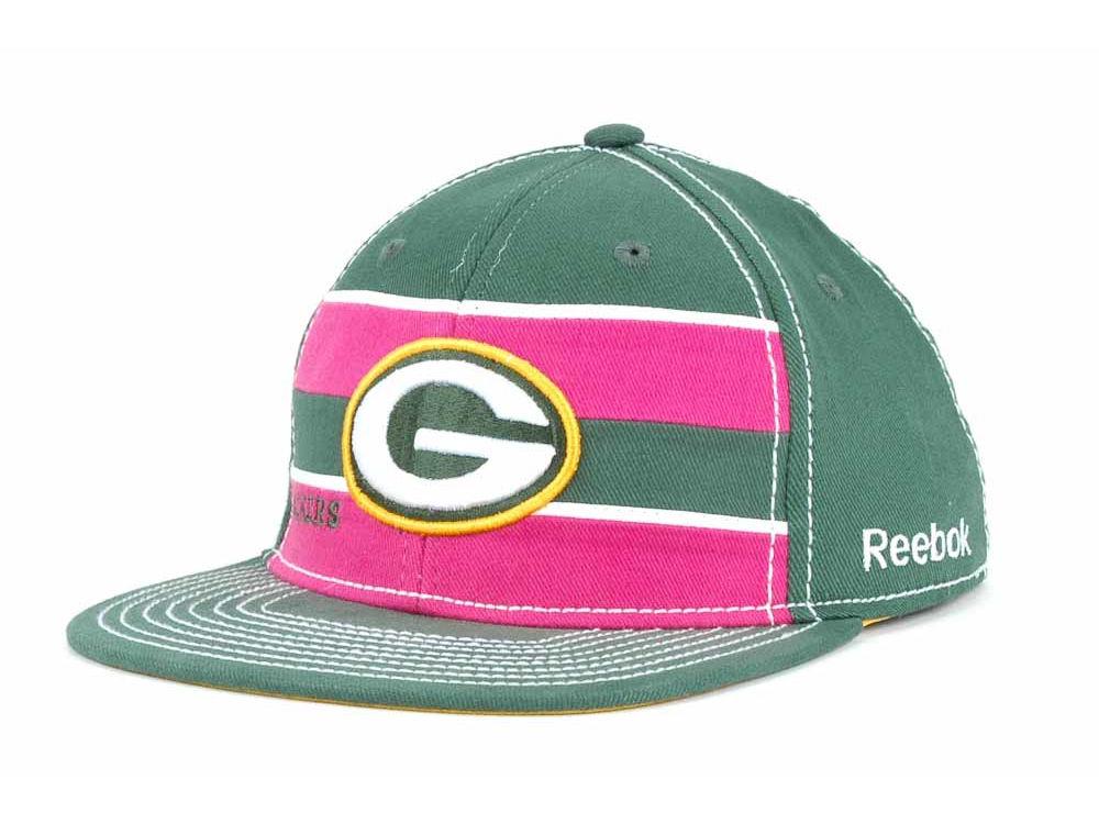 fb9efcb8e Green Bay Packers Reebok NFL Breast Cancer Awareness Sideline Cap ...