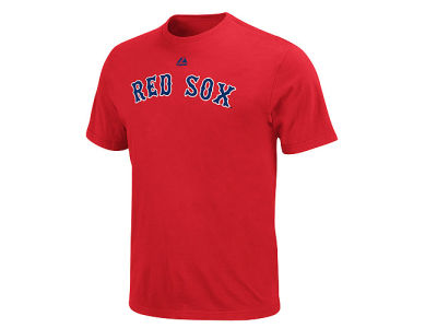Boston Red Sox Majestic MLB Men's Official Wordmark Team T-Shirt