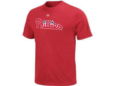 Philadelphia Phillies Majestic MLB Men's Official Wordmark T-Shirt