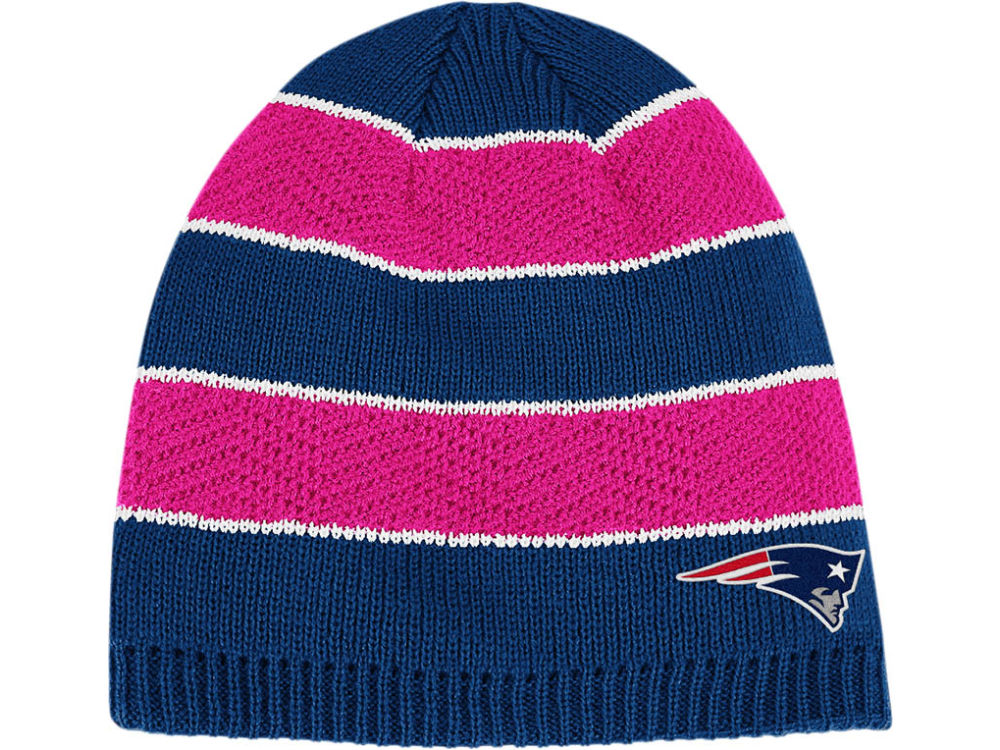 fba6c21e2 New England Patriots Reebok NFL Breast Cancer Awareness Womens Knit ...