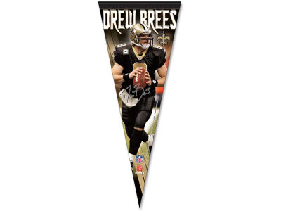 New Orleans Saints Drew Brees 12x30 Premium Player Pennant
