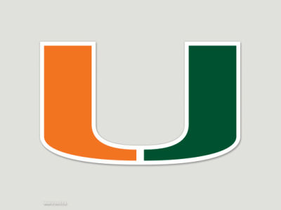 Miami Hurricanes Die Cut Color Decal 8in X 8in