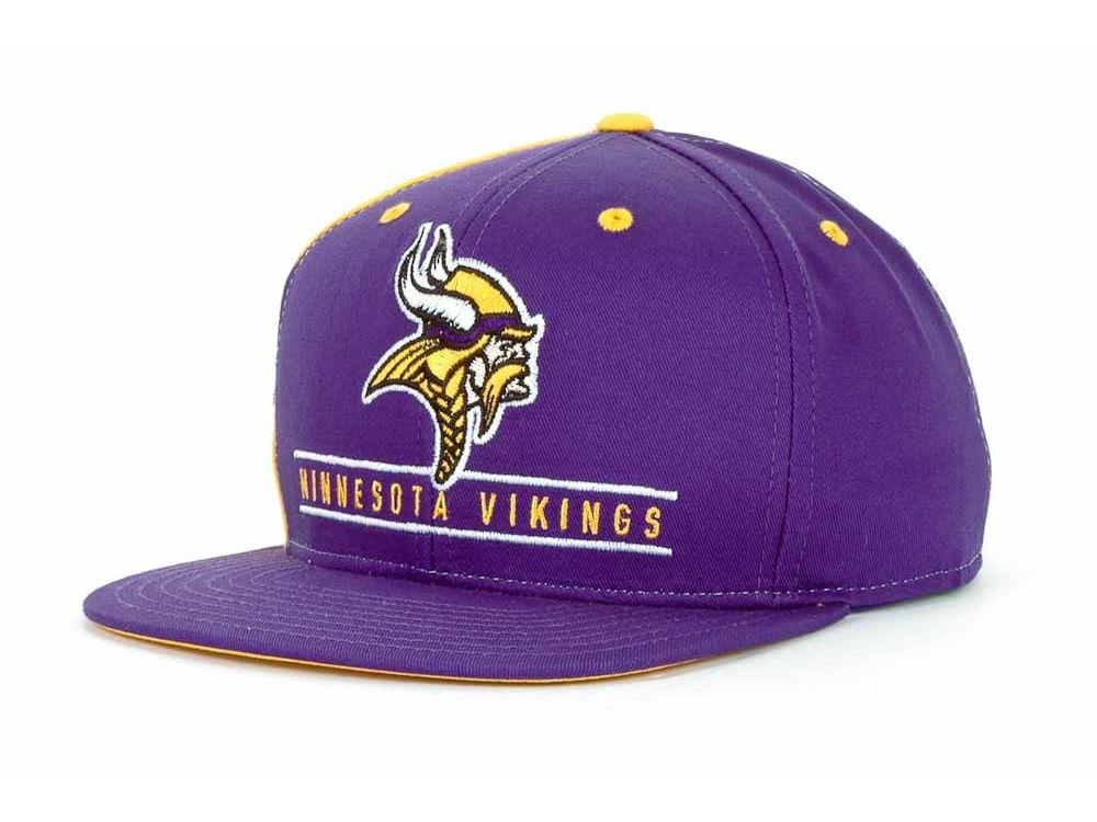 Minnesota Vikings Reebok NFL High Snap Snapback Cap  d56ee0a61