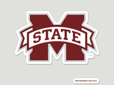 Mississippi State Bulldogs Die Cut Color Decal 8in X 8in
