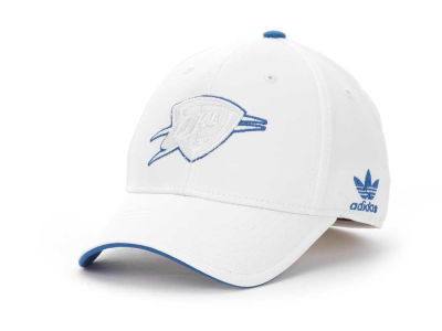 Oklahoma City Thunder adidas NBA White Swat IV Cap