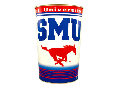 Southern Methodist Mustangs Trashcan