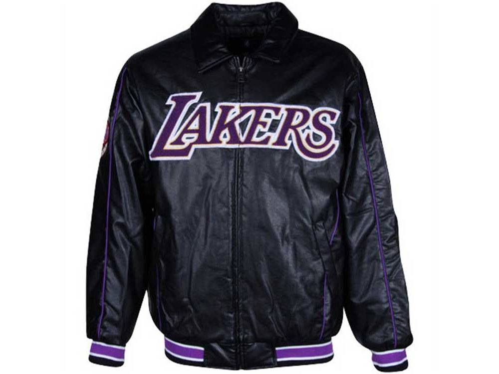 5696234a188 Los Angeles Lakers NBA Faux Leather Jacket