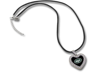 New York Jets Touch Heart Crystal Necklace