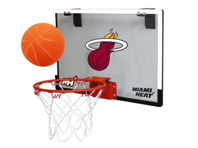 Miami Heat Game On Polycarb Hoop Set