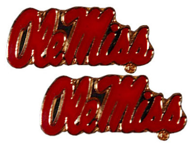 Ole Miss Rebels Logo Earrings