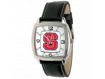 North Carolina State Wolfpack Retro Leather Watch