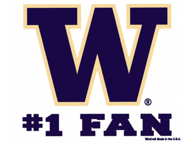 Washington Huskies 3x4 Ultra Decal