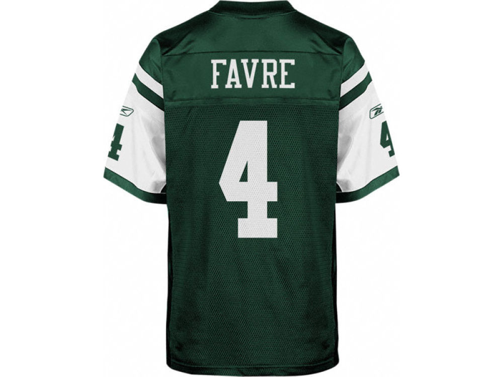 d0f574e5b New York Jets Brett Favre Reebok NFL Authentic Player Jersey