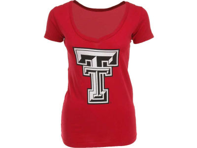 Texas Tech Red Raiders Retro Brand NCAA Womens V Neck T-Shirt