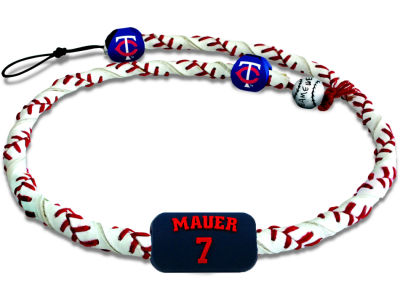 Minnesota Twins Joe Mauer Frozen Rope Necklace