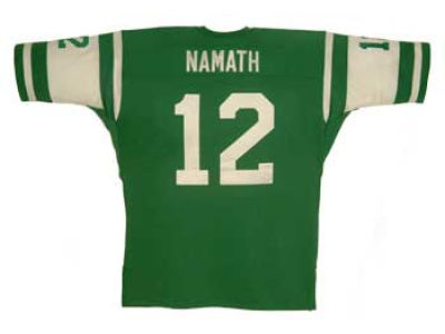 New York Jets Joe Namath Reebok NFL Authentic Throwback Jersey