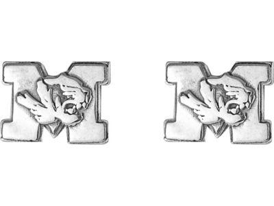 Missouri Tigers Silver Post Earrings