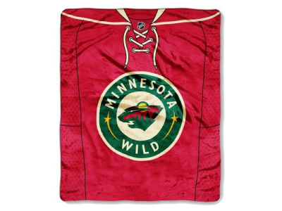 Minnesota Wild 50x60in Plush Throw Jersey