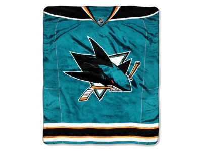 San Jose Sharks The Northwest Company 50x60in Plush Throw Jersey
