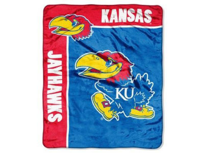 Kansas Jayhawks 50x60in Plush Throw Blanket