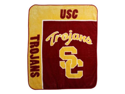 USC Trojans 50x60in Plush Throw Blanket