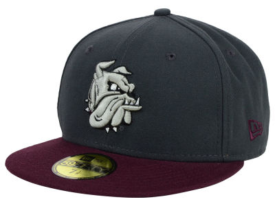 Minnesota Duluth Bulldogs New Era NCAA 2 Tone Graphite and Team Color 59FIFTY Cap