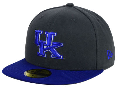 Kentucky Wildcats New Era NCAA 2 Tone Graphite and Team Color 59FIFTY Cap