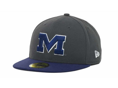 Ole Miss Rebels New Era NCAA 2 Tone Graphite and Team Color 59FIFTY Cap