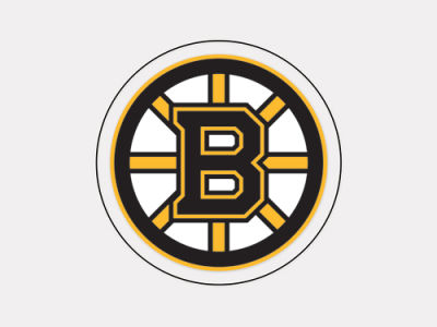 Boston Bruins 4x4 Die Cut Decal Color