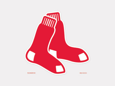 Boston Red Sox 4x4 Die Cut Decal Color