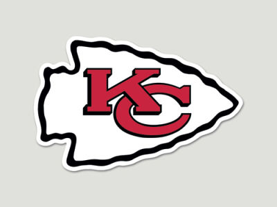 Kansas City Chiefs Die Cut Color Decal 8in X 8in