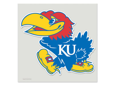 Kansas Jayhawks Die Cut Color Decal 8in X 8in