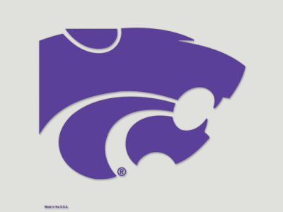Kansas State Wildcats Die Cut Color Decal 8in X 8in