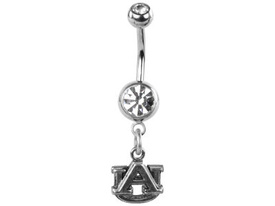 Auburn Tigers Silver Belly Button Ring
