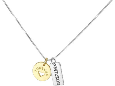 Missouri Tigers Silver Forever Tag Necklace