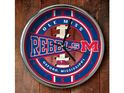 Ole Miss Rebels Chrome Clock