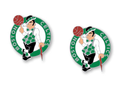 Boston Celtics Aminco Logo Post Earrings